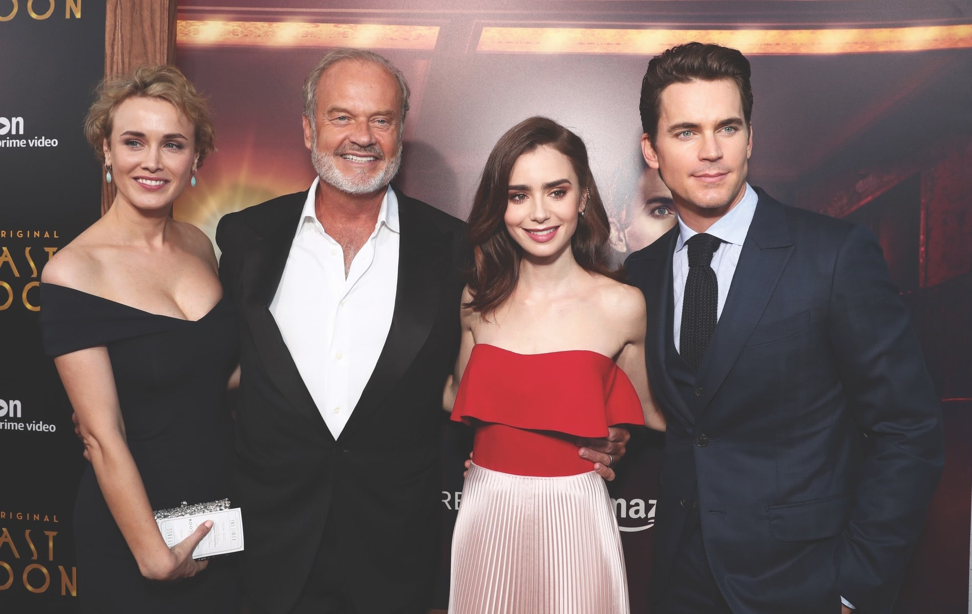Arts Culture and Entertainment, celebrities, Amazon, Amazon Prime Video, The Last Tycoon, Harmony Gold Theatre, Los Angeles, California, Dominique McElligott, Kelsey Grammer, Lily Collins, Matt Bomer