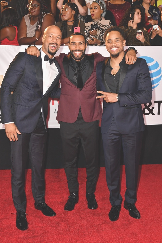 49th NAACP Image Awards, NAACP, NAACP Image Awards, Pasadena, California, WireImage, Common, Omari Hardwick, Mack Wilds, Pasadena Convention Center