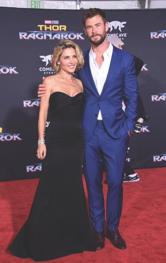 Chris Hemsworth, Elsa Pataky, Thor Ragnarok, Thor, Marvel, Los Angeles, California, celebrities