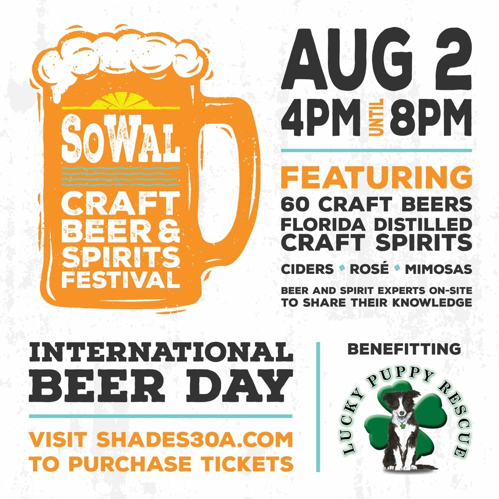 Sowal, Sowal Craft Beer & Spirits Festival, Shades at the Loop, Lucky Puppy Rescue, SoWal Craft Beer and Spirits Festival