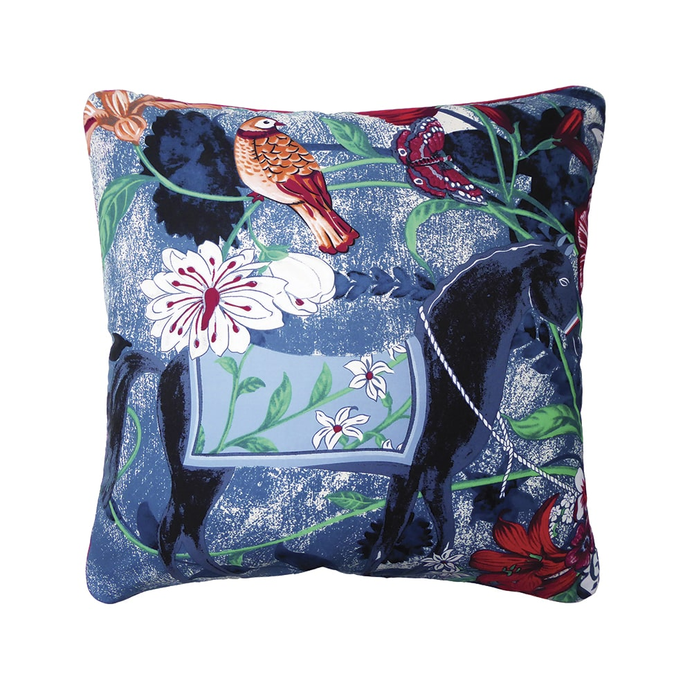 Nichollette Yardley-Moore Equus Azul Throw Pillow