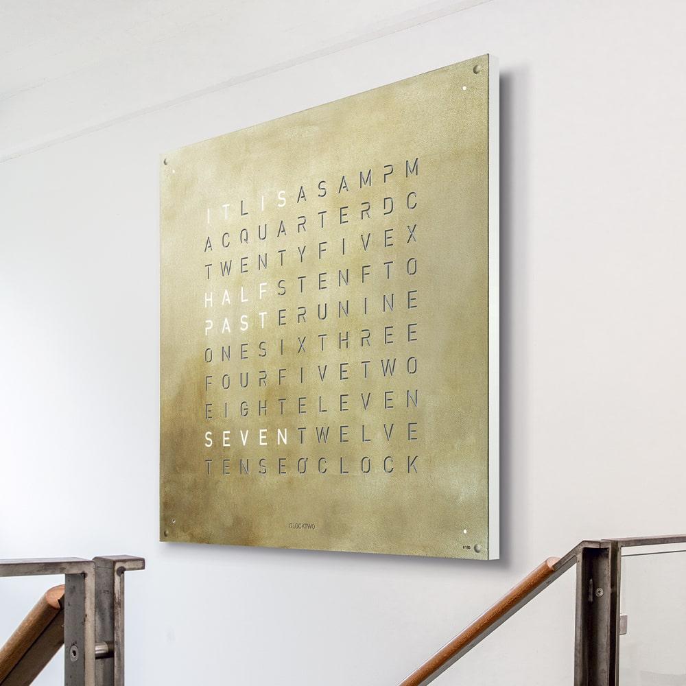 Qlocktwo 180 Creator's Edition Silver & Gold Wall Clock