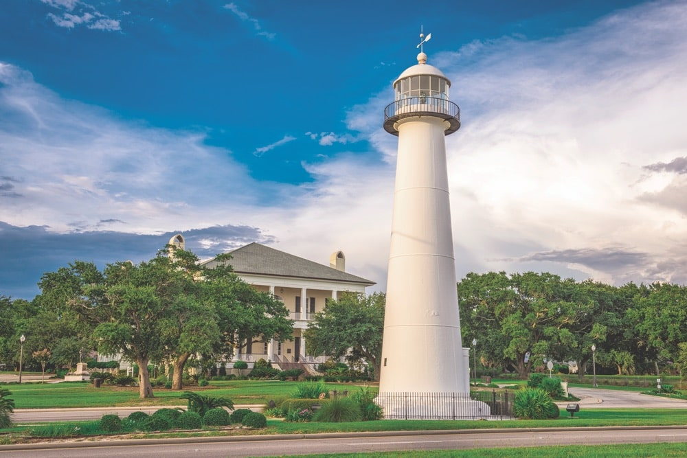 The lighthouse in Biloxi is a scenic spot for a stroll. | Photo by Sean Pavone/Shutterstock