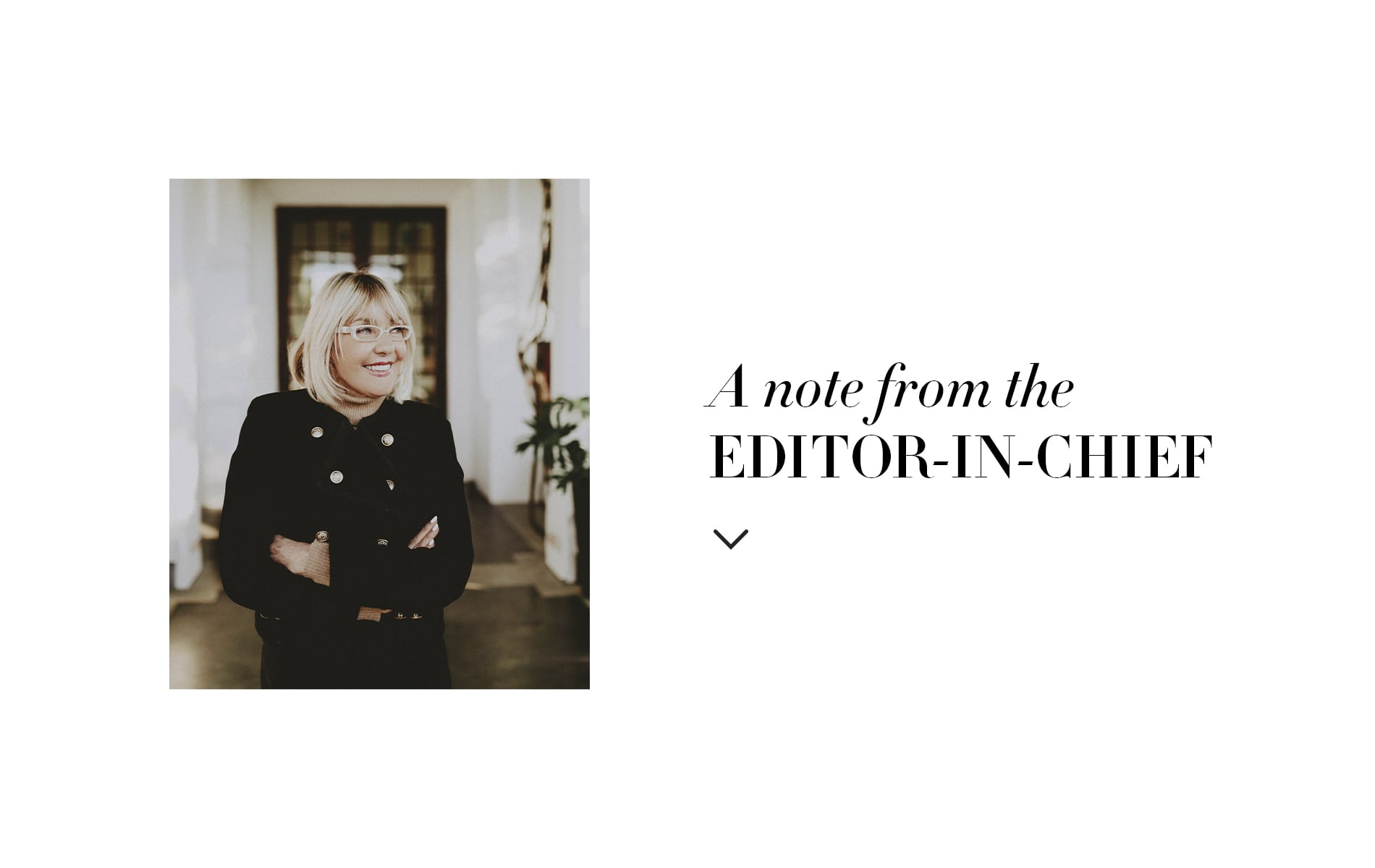 VIE Magazine, Lisa Burwell Editor in chief note