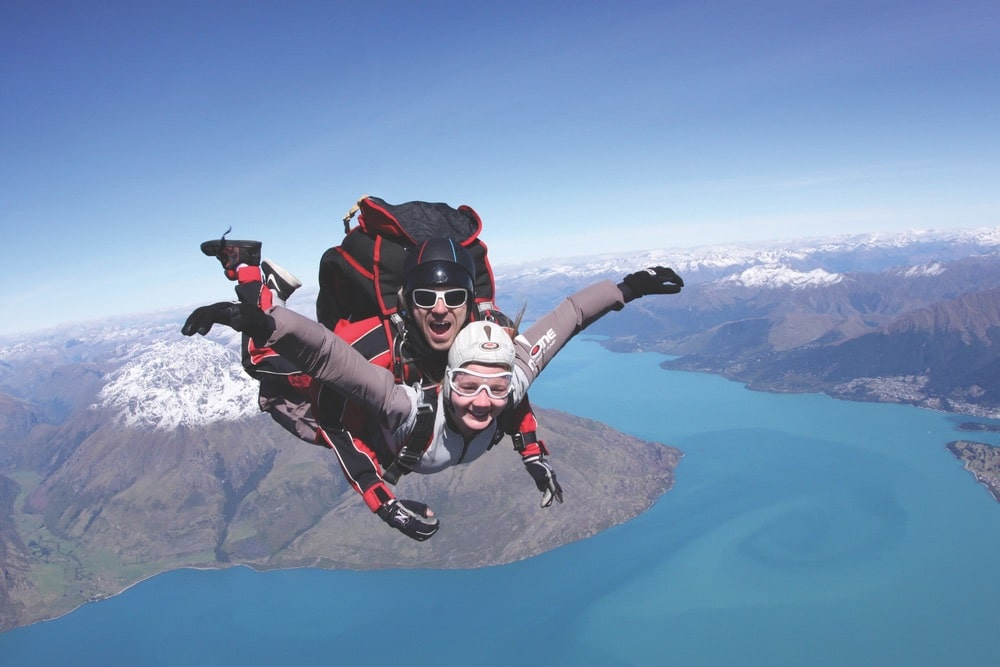 Skydiving over Queenstown, New Zealand | Photo courtesy of NZONE – The Ultimate Jump/New Zealand Tourism