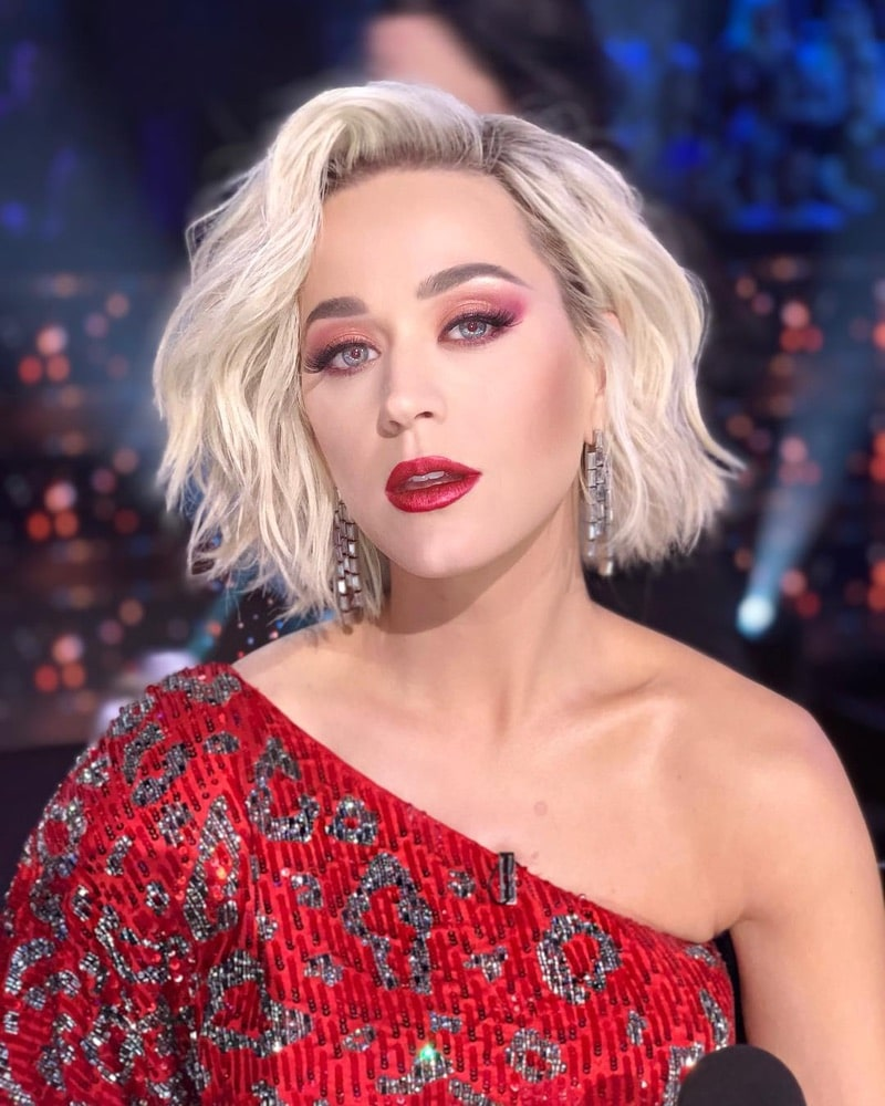 2019 Hair Trends, Katy Perry, Chris Appleton, bob hairstyle, Instagram