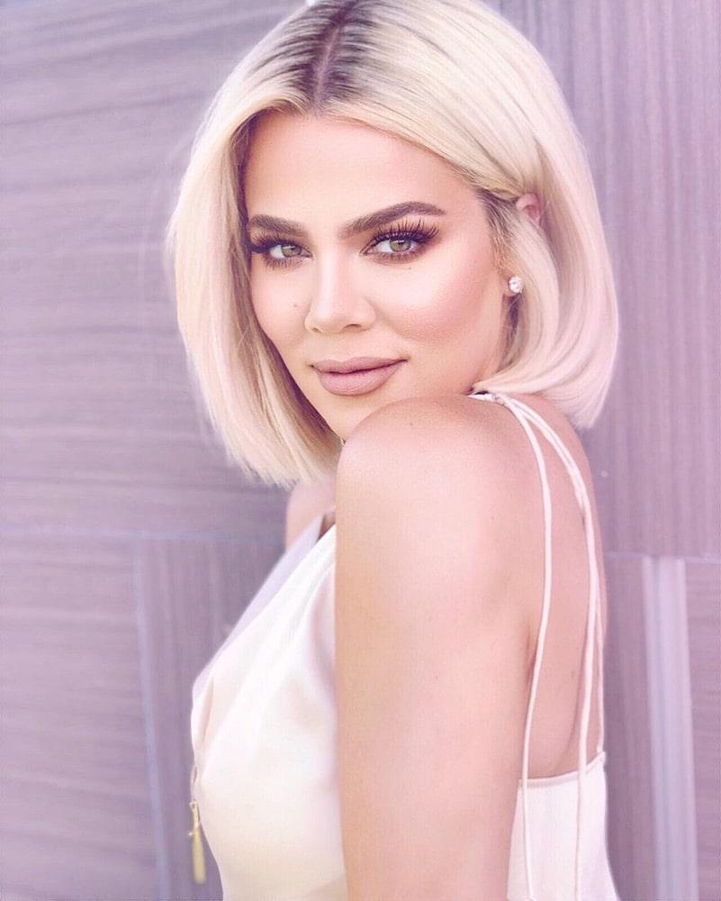 2019 Hair Trends, Khloe Kardashian, bob hairstyle, Instagram