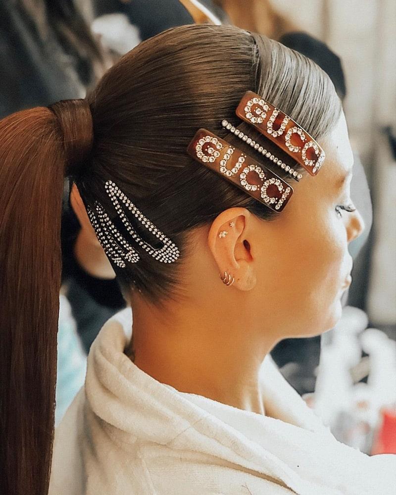 2019 Hair Trends, hair clips trend, Instagram, justine marjan