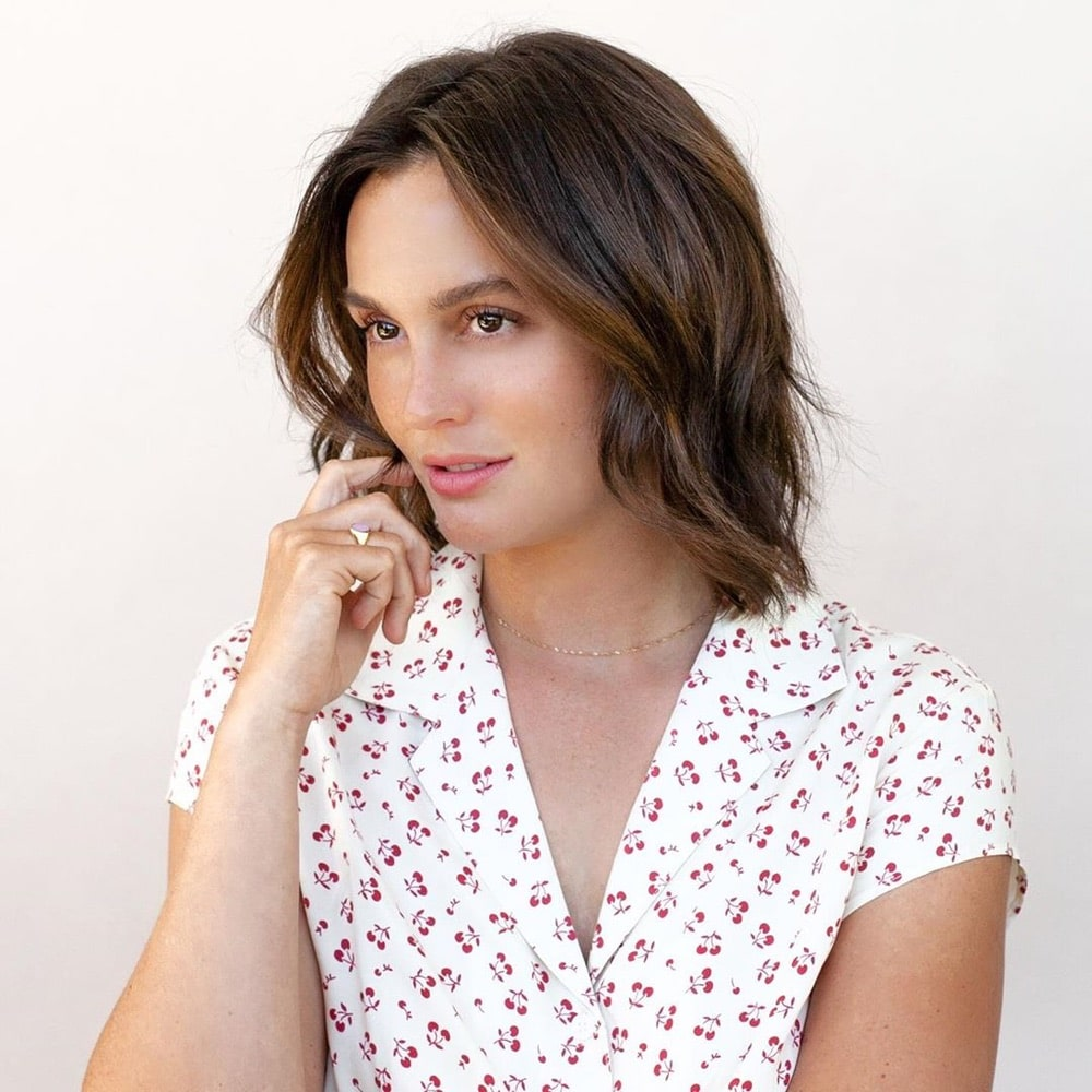 2019 Hair Trends, Leighton Meester, Chris Appleton, lob hairstyle, Instagram