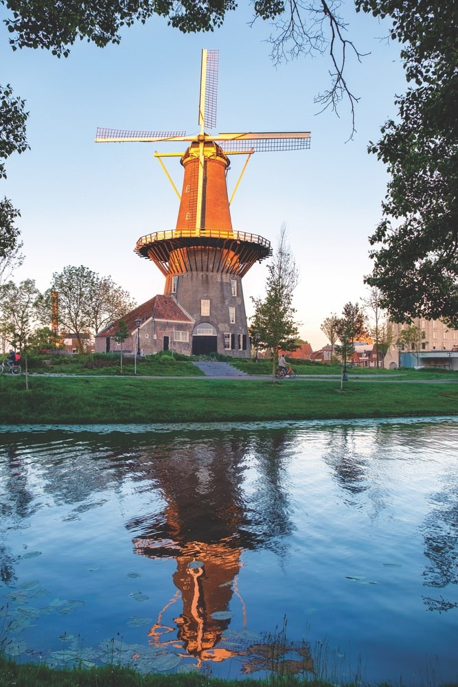 The windmill and museum De Valk in Leiden is one of the city's most popular attractions.