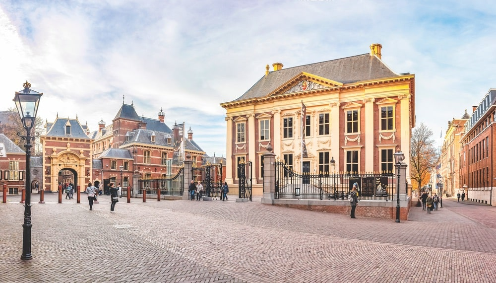 Panorama photo of the Mauritshuis museum in The Hague, home of the best collection of Dutch Golden Age paintings