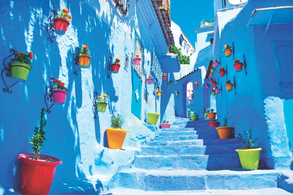 In the Rif mountain range of northern Morocco, Chefchaouen beckons visitors with its Instagram-worthy streets and walls, many of which have been painted in various shades of blue. Explore markets and restaurants, or maybe even dip into one of the local bathhouses. Just don't forget your camera!