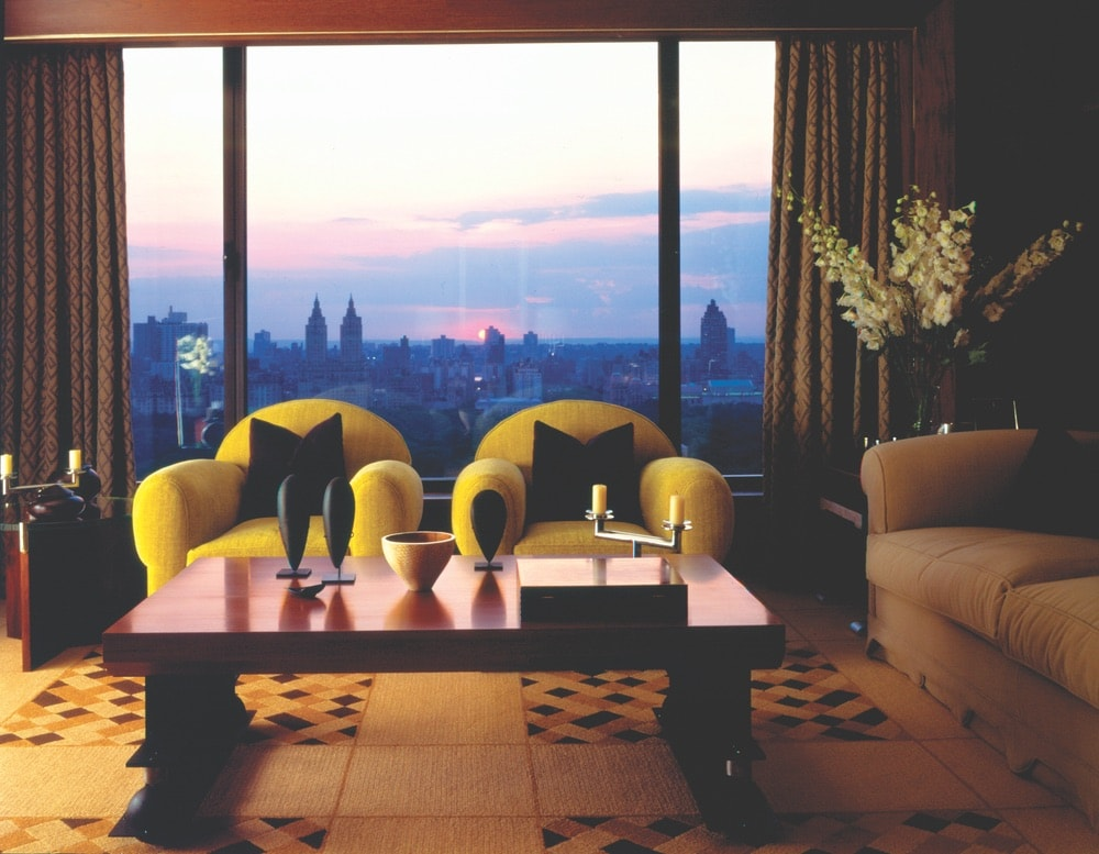 Elegant furnishings and big city views await in the Empire Suite, the carlyle, hotel, new york