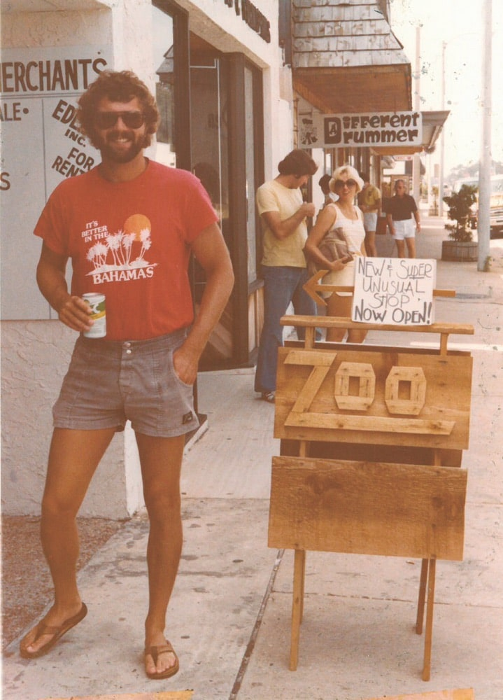 Chris Wilson outside The Zoo Gallery on the Strip in Fort Walton Beach, Florida
