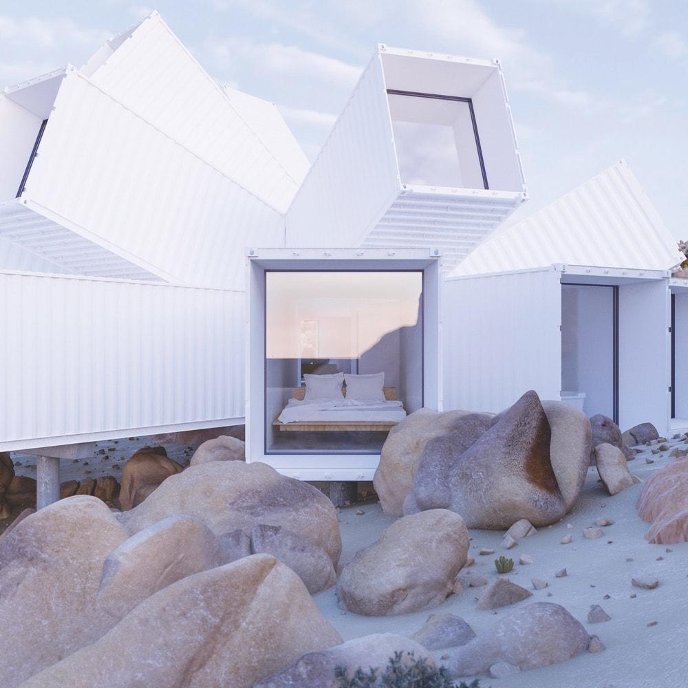 Joshua Tree Whitaker Studio Container home