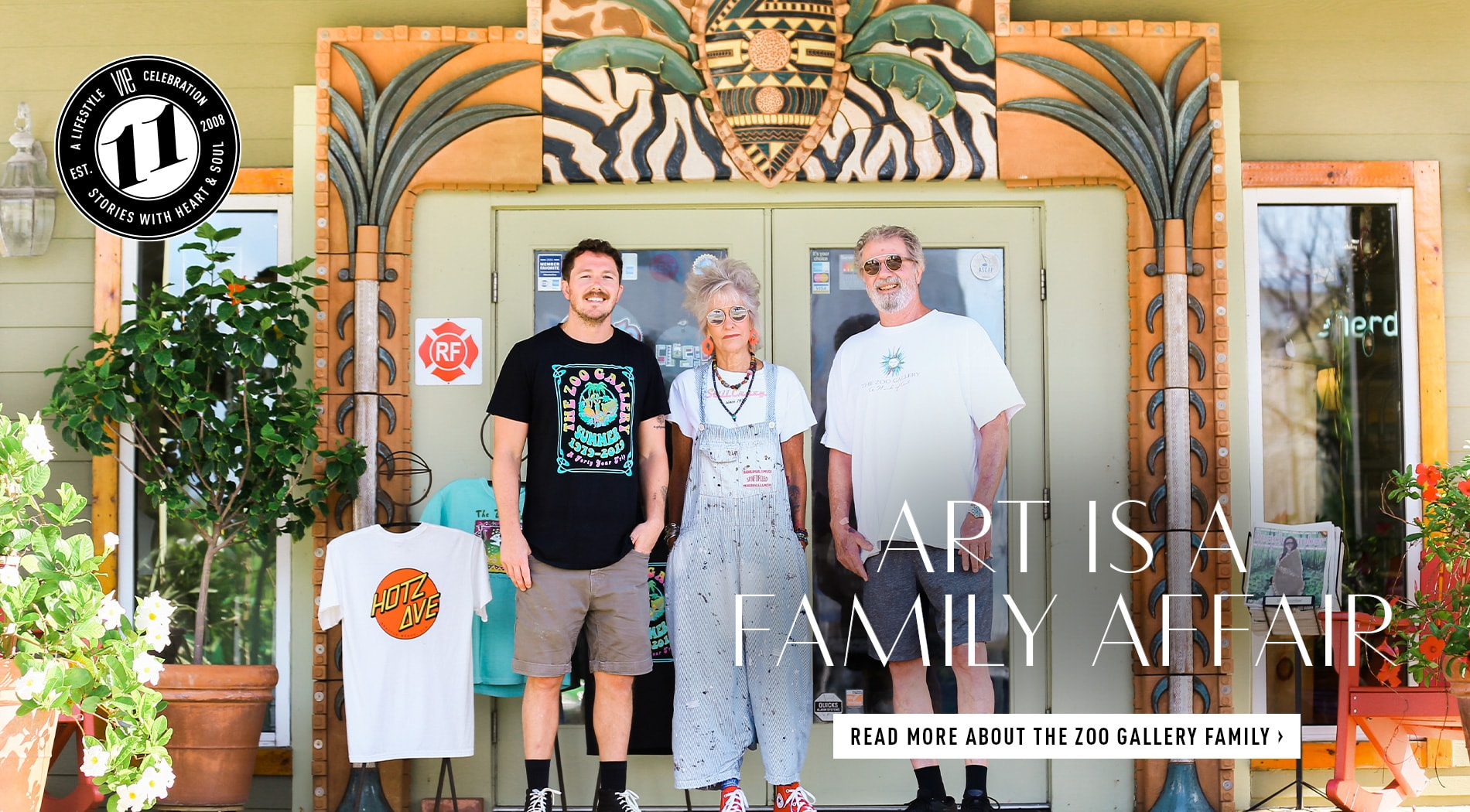 Celebrate forty years with The Zoo Gallery zookeepers! Share your Zoo T-shirt story, visit The Zoo Gallery in Grayton Beach or Grand Boulevard, and get news updates by following them on social media.