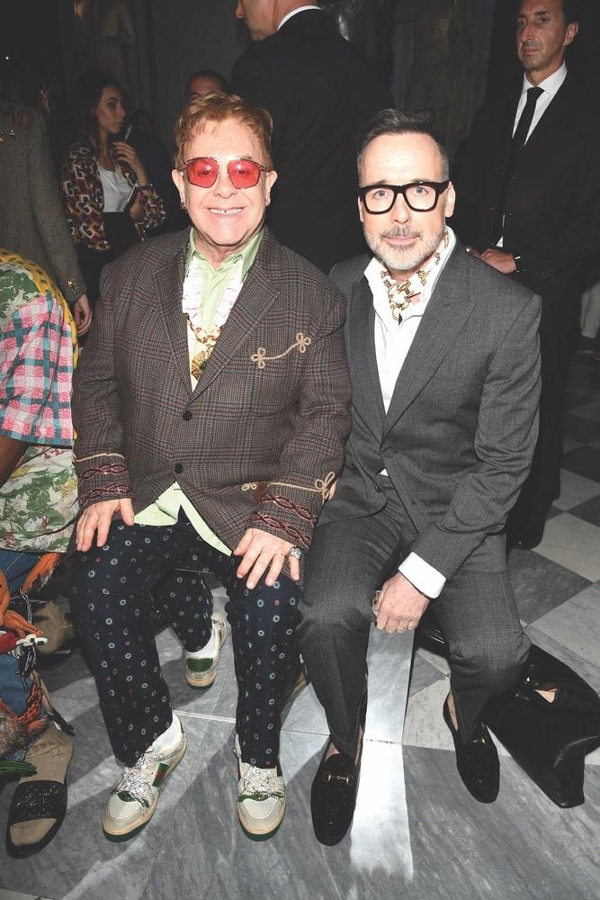 Gucci Cruise 2020 Runway Show & After Party, Sir Elton John, David Furnish