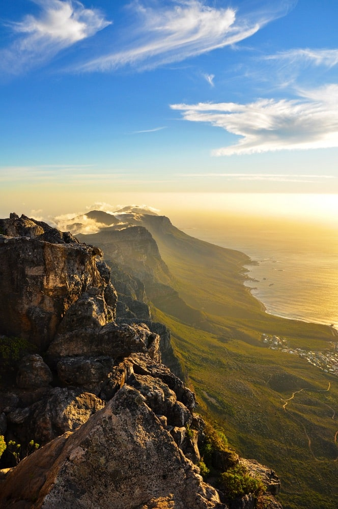 View at the 12 Apostle near Capetown, South Africa.