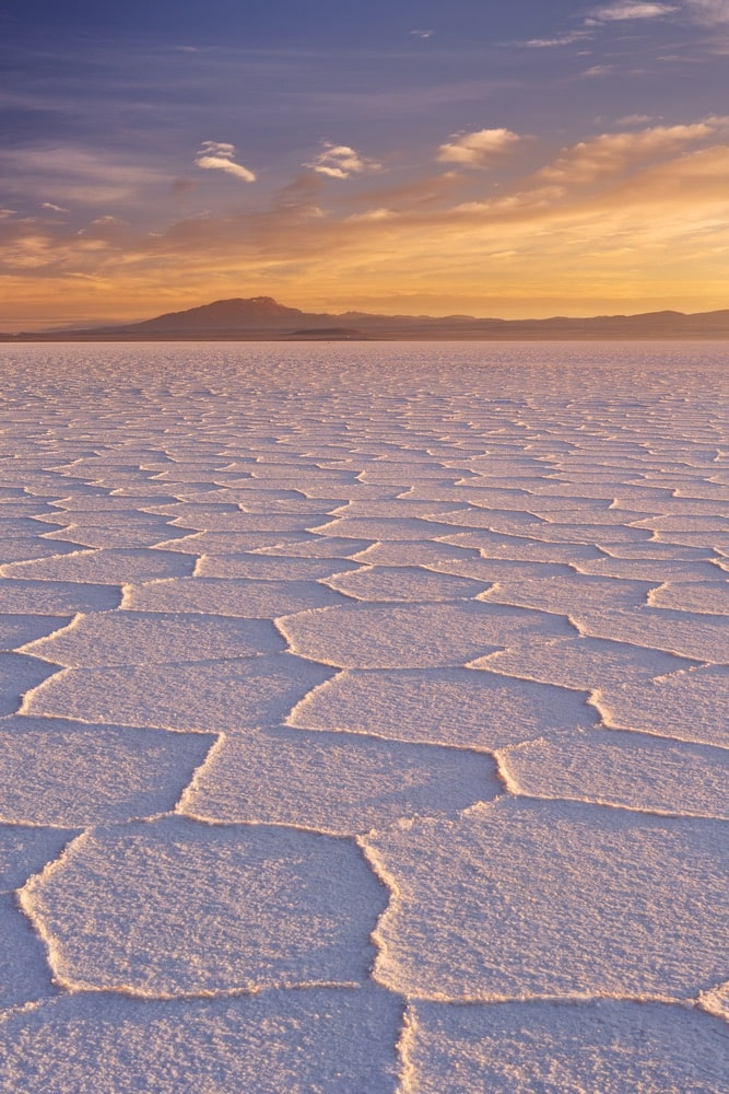 The world's largest salt flat, Salar de Uyuni in Bolivia