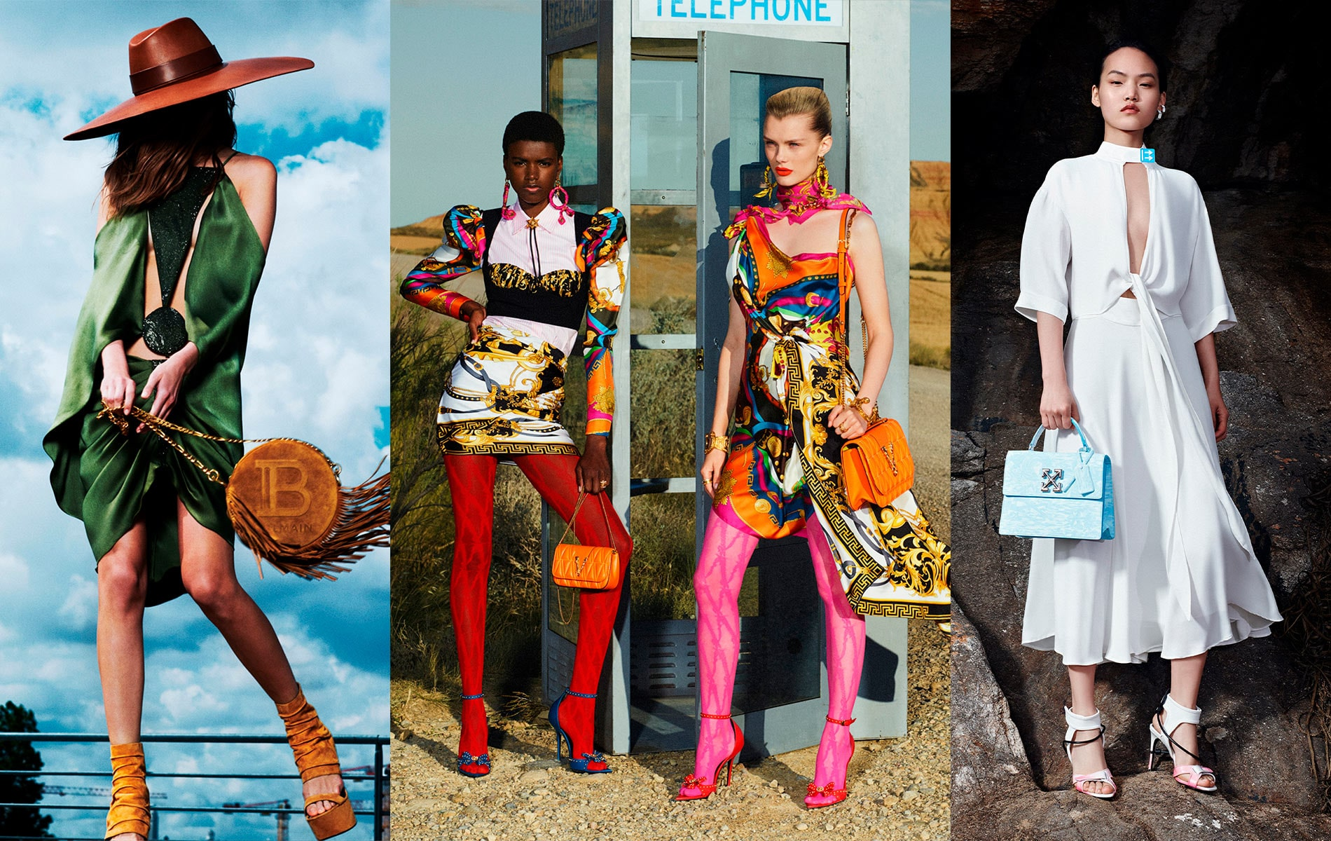 balmain, versace, off-white, resort 2020 fashion week