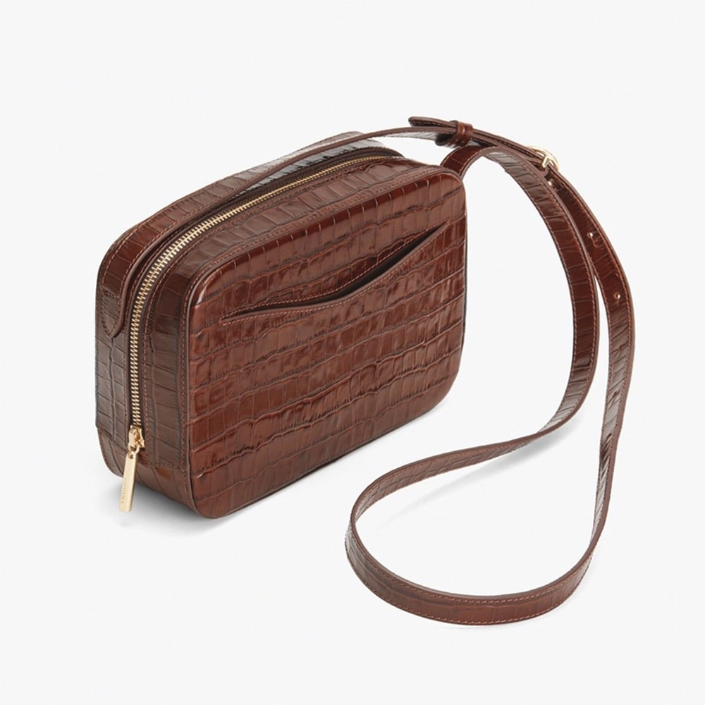 Cuyana Croc-Embossed Camera Bag