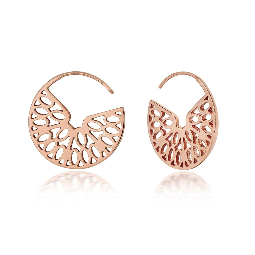 Seville Hoop Earrings in Rose Gold, Little by Little