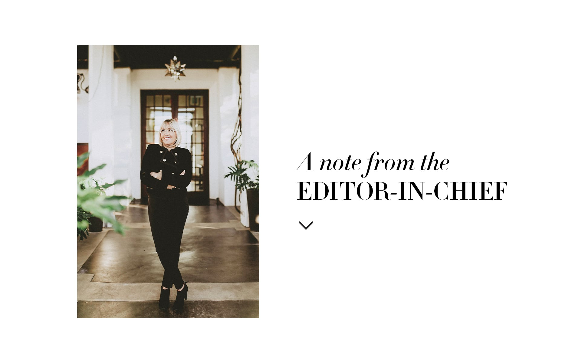 VIE magazine, Lisa Burwell, Editor in chief note