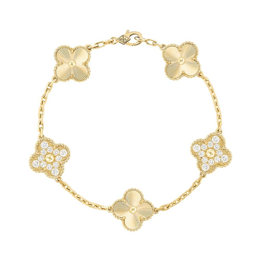 Van Cleef & Arpels Vintage Alhambra Bracelet, Five Motifs