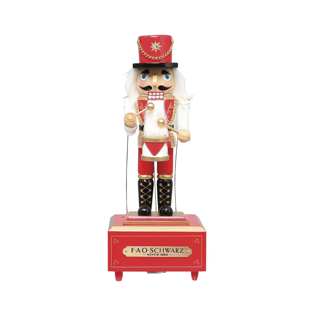 FAO Schwarz Twelve-Inch Musical Wooden Nutcracker Prince