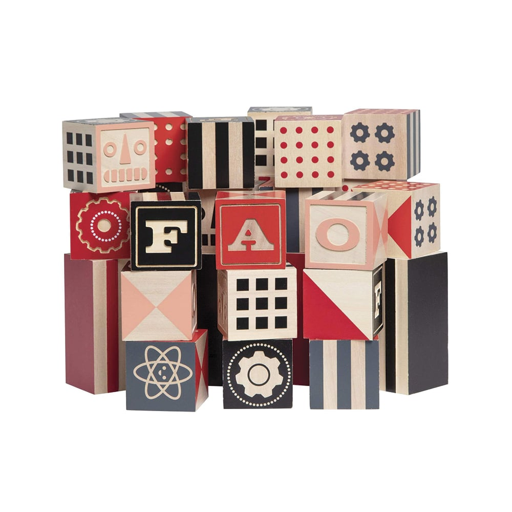 FAO Schwarz Toy Designer Wooden Blocks