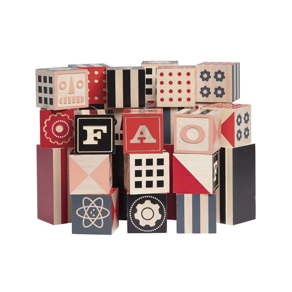 FAO Schwarz Toy Designer Wooden Blocks