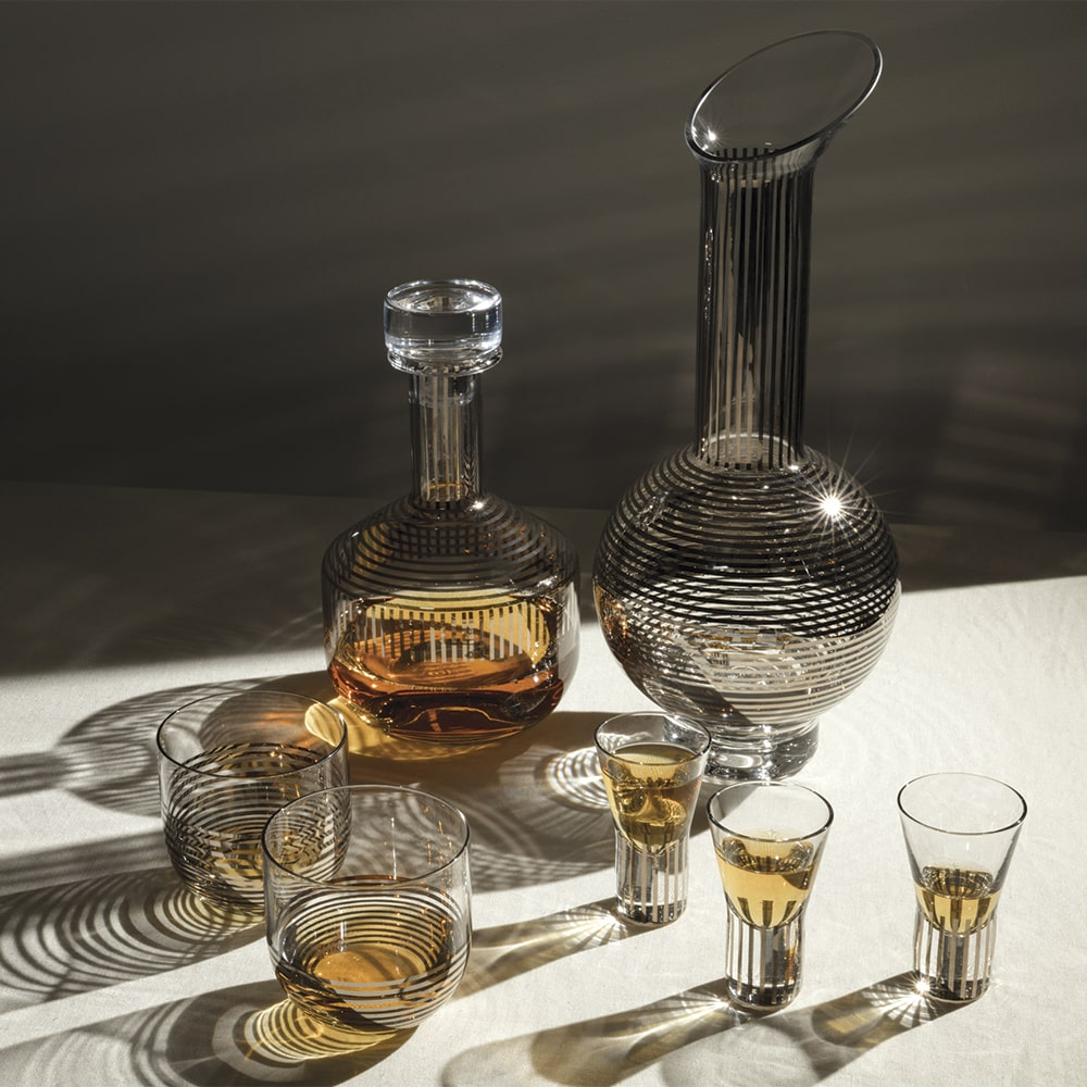Tom Dixon Tank Whiskey Set in Platinum Stripe