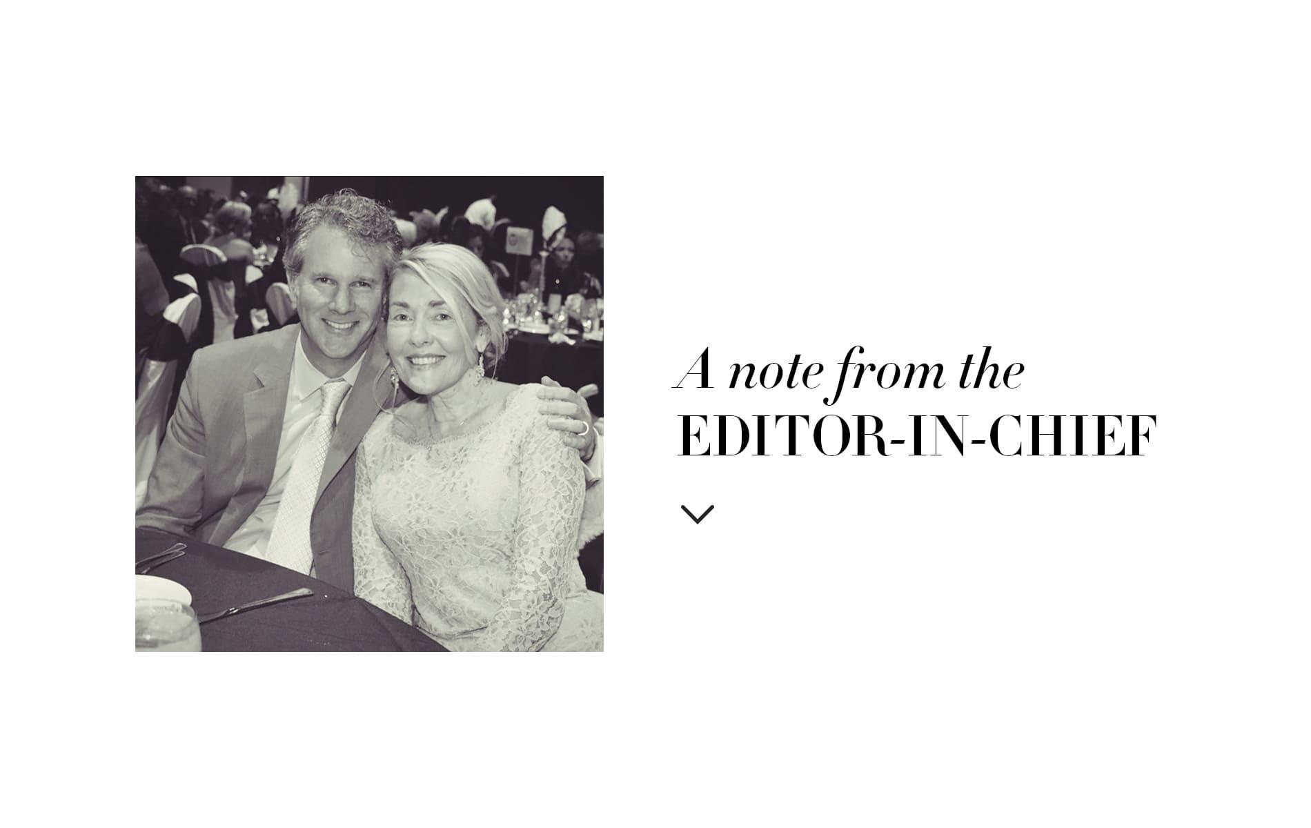 VIE Magazine December 2019 The Women's Issue, Lisa Burwell, Gerald Burwell, Editor-in-Chief Note