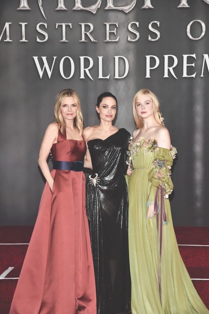 Michelle Pfeiffer, Angelina Jolie, Elle Fanning, Getty Images, Disney, Maleficent: Mistress of Evil LA Premiere