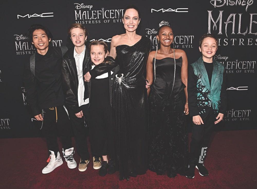 Angelina Jolie, Pax Thien, Shiloh Nouvel, Vivienne Marcheline, Zahara Marley, Knox Léon, Getty Images, Disney, Maleficent: Mistress of Evil LA Premiere