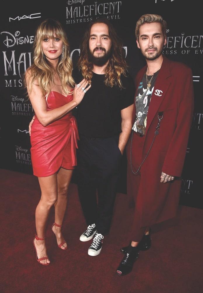 Heidi Klum, Tom Kaulitz, Bill Kaulitz, Getty Images, Disney, Maleficent: Mistress of Evil LA Premiere