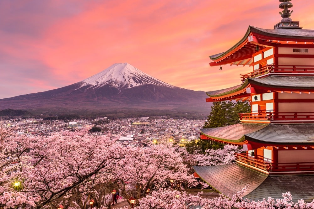 VIE Goes Pink, Pink Destinations Around the World, Breast Cancer Awareness Month, Cherry Blossoms Japan
