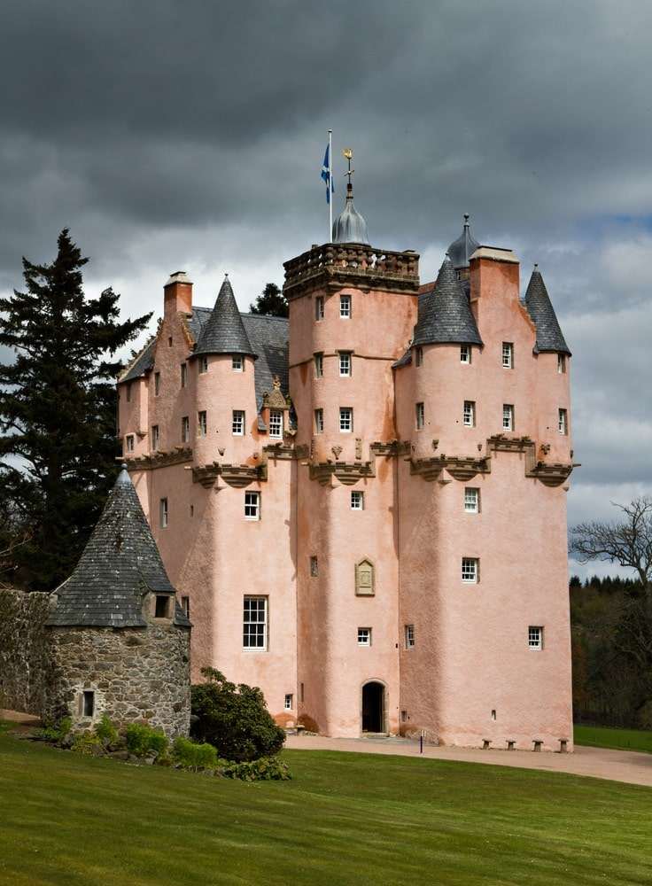 VIE Goes Pink, Pink Destinations Around the World, Breast Cancer Awareness Month, Craigievar Castle Scotland