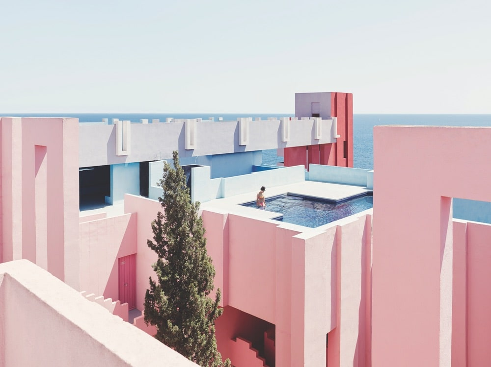 VIE Goes Pink, Pink Destinations Around the World, Breast Cancer Awareness Month, La Muralla Roja Spain
