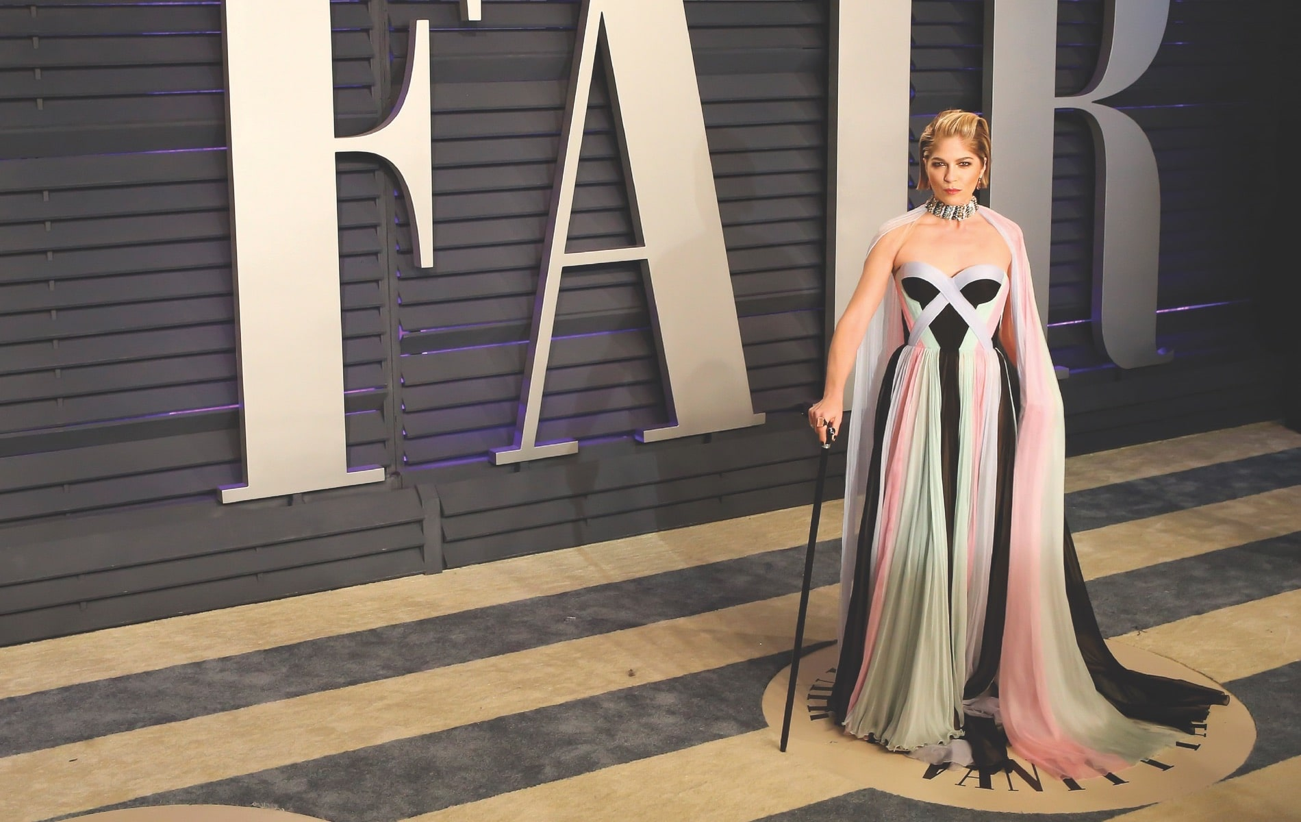 Actress Selma Blair attends the Vanity Fair Oscars Party in February of 2019 following her diagnosis with multiple sclerosis in August of 2018.