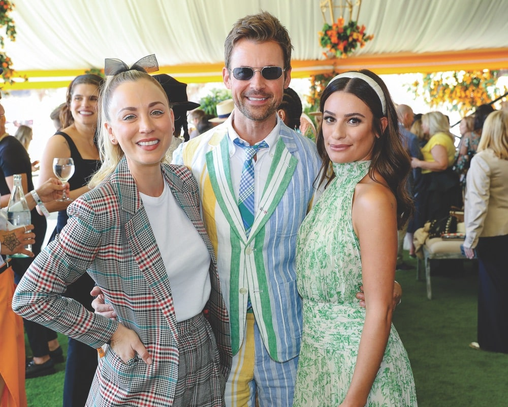 Kaley Cuoco, Brad Goreski, Lea Michele, Tenth Annual Veuve Clicquot Polo Classic Los Angeles