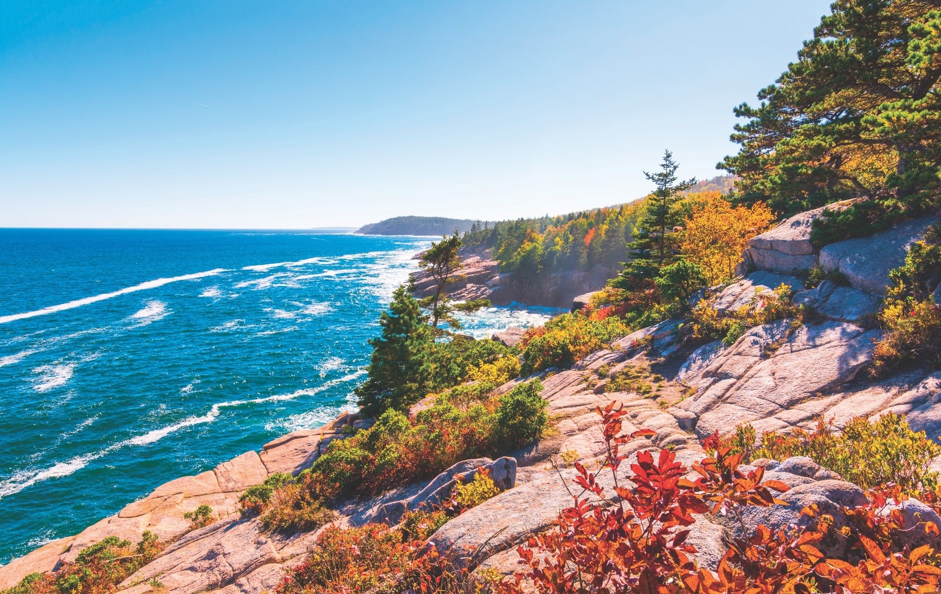 A view of Maine's rocky coastline from Acadia National Park