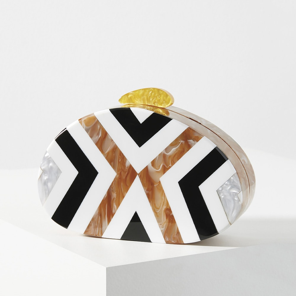 Marais Resin Clutch, Grand Boulevard, Howard Group, Anthropologie
