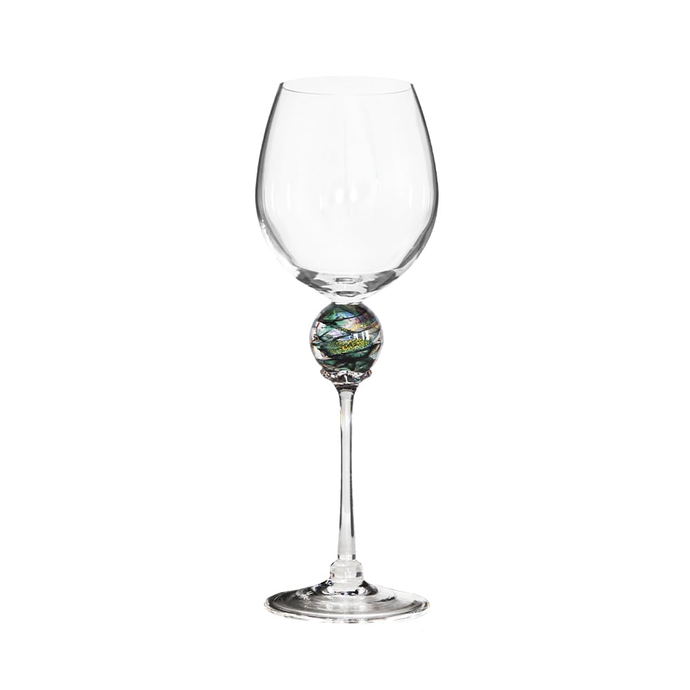 Green Planet Wine Glass, Grand Boulevard, Howard Group, Fusion Art Glass