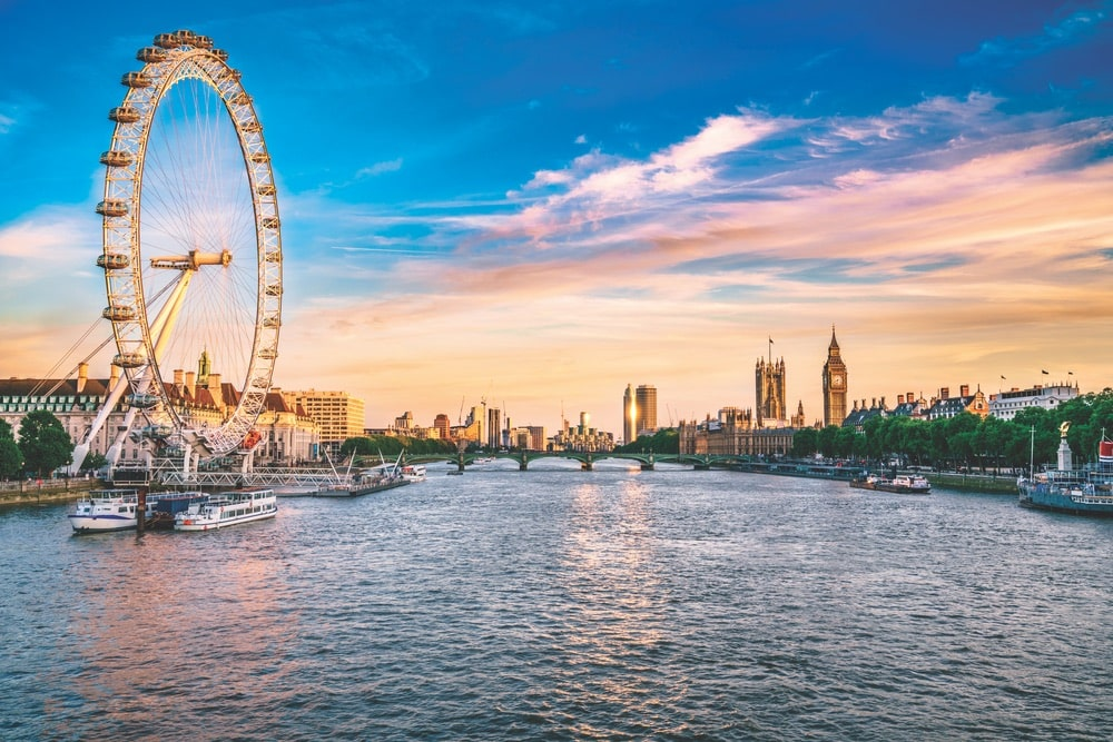 VIE Magazine January 2020 Travel Issue Voyager Department Page, London Eye