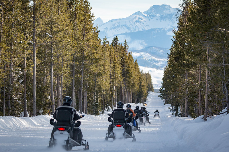 Scenic Safaris snowmobile tours in Yellowstone and Grand Teton National Parks