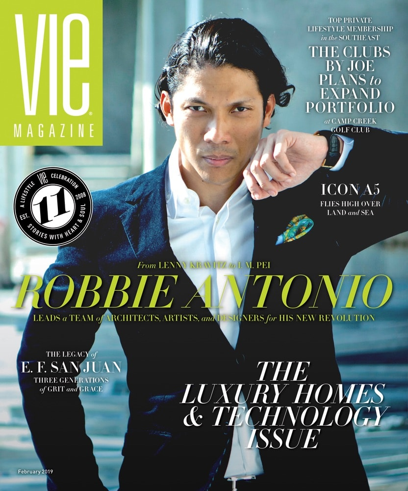 VIE Magazine February 2019 Luxury Homes & Technology Issue, Robbie Antonio, Revolution Precrafted