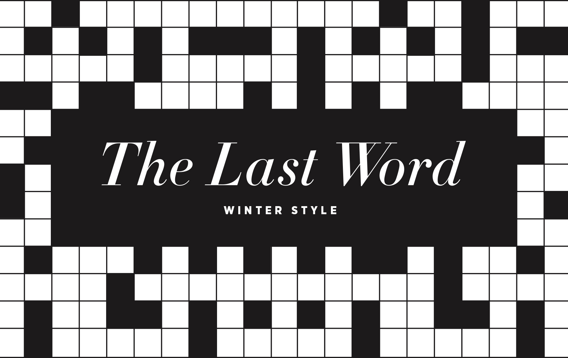 VIE magazine Crossword Puzzle Winter Style
