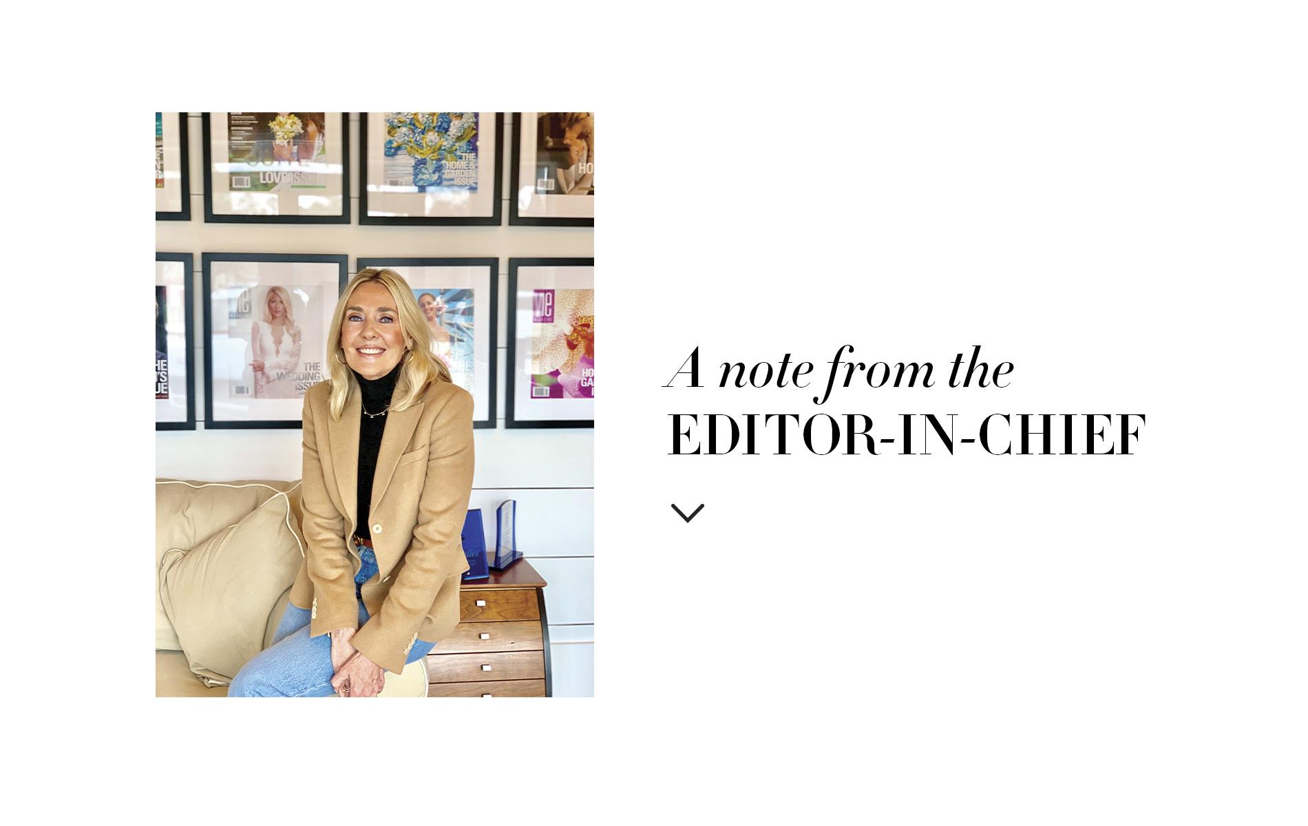 VIE Magazine, Lisa Burwell Editor-in-Chief Note