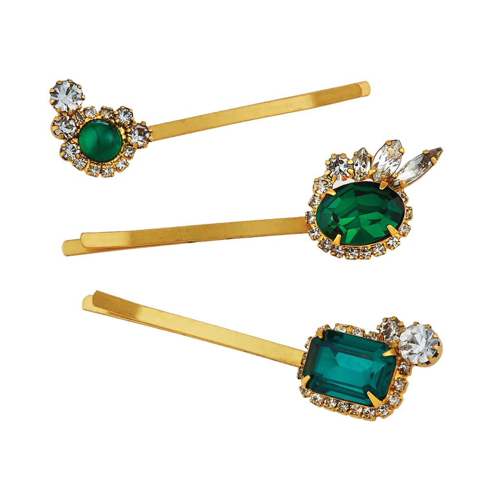 Elizabeth Cole Bunny crystal bobby pins